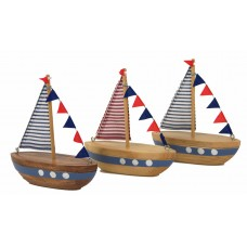 Sailboats, 12cm, 3 assorted