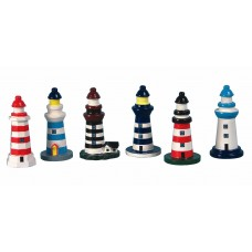 Lighthouse, 8cm, 6 assorted