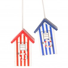 Beach Hut Light Pulls, 5cm, 2 assorted