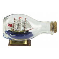 Cutty Sark Ship-in-Bottle, 3-sided, 9cm