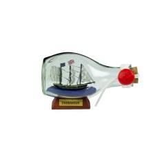 HMS Endeavour Ship-in-Bottle, 3-sided, 9cm