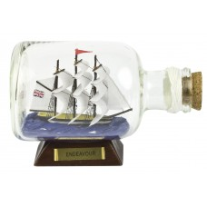 HMS Endeavour Ship-in-Bottle, 14cm