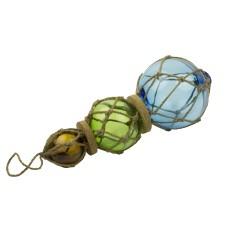 Triple Glass Fishing Float, 30cm