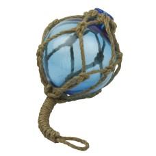 Glass Fishing Float, blue, 8cm