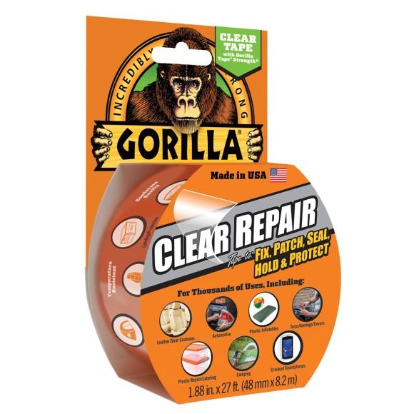 Gorilla Crystal Clear Waterproof Repair Tape, 8.2m