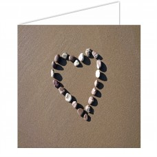 Heart in Pebbles SandScript Card