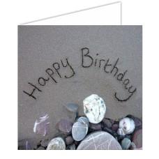 Happy Birthday Sand Card