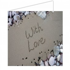 With Love SandScript Card