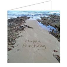 Birthday SeaShore Sand Card
