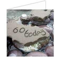 """60 Today"" SandScript Card"