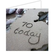 """70 Today"" SandScript Card"