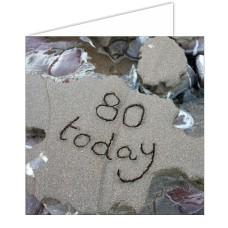 """80 Today"" SandScript Card"