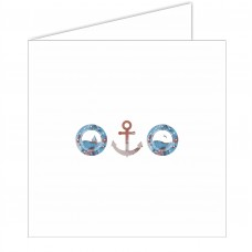 Portholes and Anchor Greeting Card