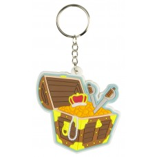 Treasure Chest Rubber Keyring