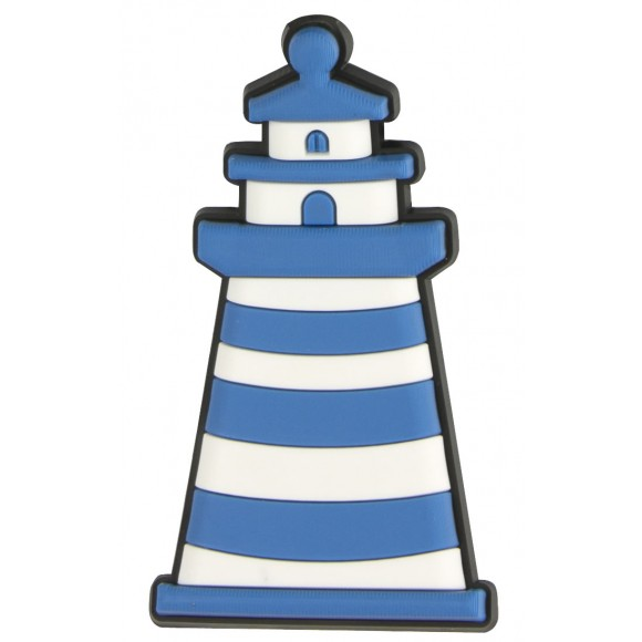 Rubber Lighthouse Magnet, blue