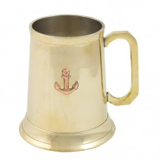 Brass Tankard with Anchor, 500ml