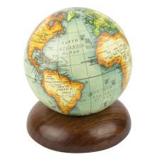 Globe on Wooden Pedestal, 12cm
