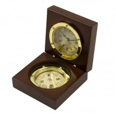 Admiral's Clock & Compass Box, 9x9cm