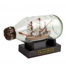 Mayflower Ship in Bottle, 14cm