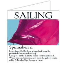 Sailing Card - Spinnaker