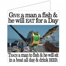 Salty Saying Card - Give a man a fish