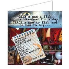 Fishy Tales Card - Give a man a fish...