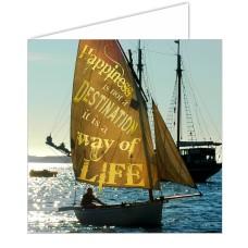Sailing Card - Happiness...Destination