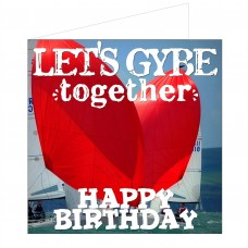 Greeting Card - Let's Gybe Together