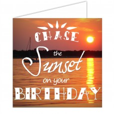 Greeting Card - Chase the Sunset