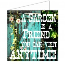 Greeting Card - Garden Friend Visit Anytime