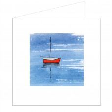 All at Sea Card - Red Boat