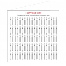 All at Sea Card - Happy Birthday Candles