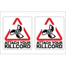 Boat Sticker - Attach kill cord (S)