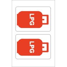 Boat Sticker - LPG gas bottle (S)