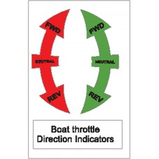Boat Sticker - Throttle direction (S)