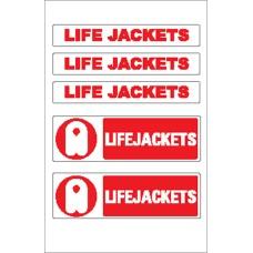 Boat Sticker - Life jacket logo & words (S)