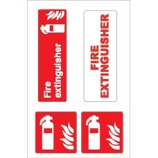 Boat Sticker - Fire extinguisher (L)
