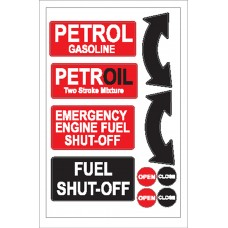 Boat Sticker - Petrol/fuel shut off (L)