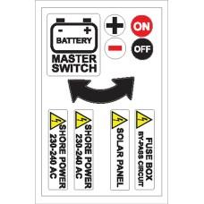 Boat Sticker - Battery/shore power (L)