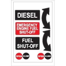 Boat Sticker - Diesel/shut off (L)