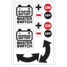 Boat Sticker - Battery master switch (L)