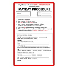 Boat Sticker - Mayday (L)