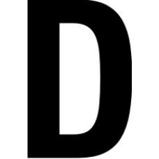 38mm letters - D