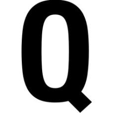 38mm letters - Q