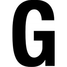 65mm letters - G