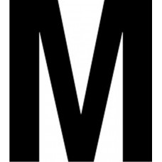 65mm letters - M