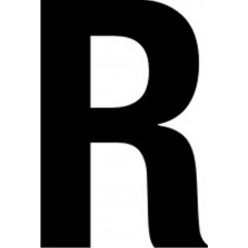 65mm letters - R