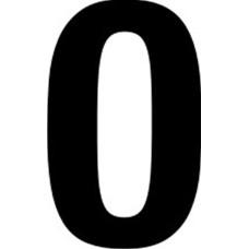 65mm numerals - 0