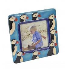 Photo Frame with Puffins, 13cm