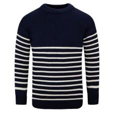 Breton Crew Sweater, navy, L